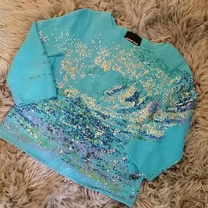 Michael Simon Sweaters - ⭐ 4 for $20 Michael Simon blue sequin sweater top